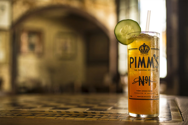 Photo of Pimm's Cup drink with lime