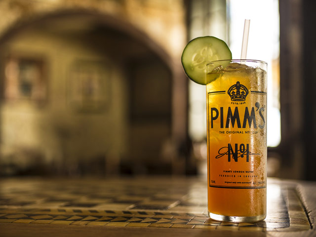 Pimm's Cup Glass on table