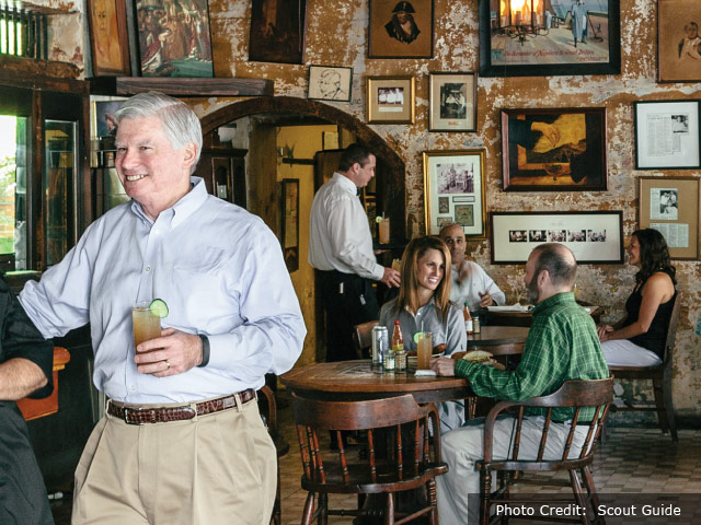 Photo of Ralph Brennan in Napoleon House main dining room