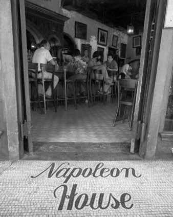 Photo of entry to main dining room of Napoleon House in 1935