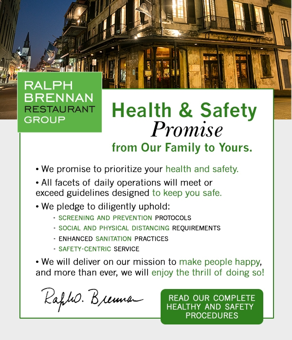 Health and Safety Promise. Click for details.